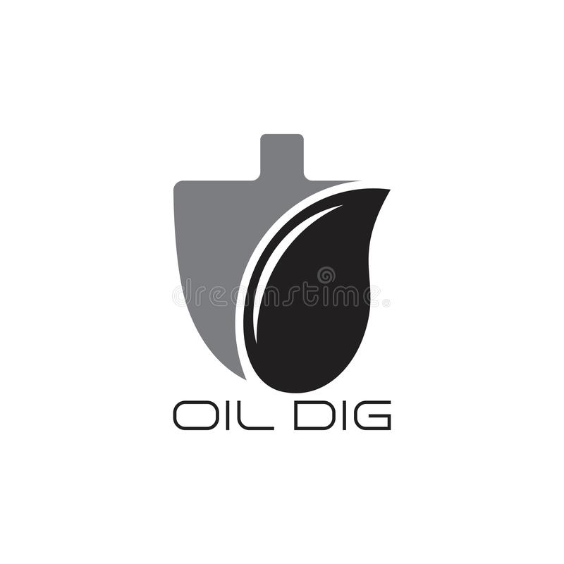 Oil dig symbol logo vector. Industrial business royalty free illustration