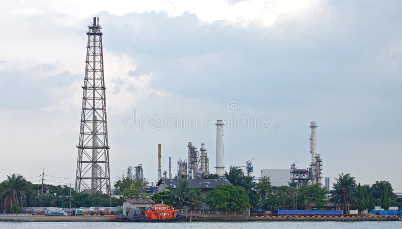 Oil distillation Tower stock photos
