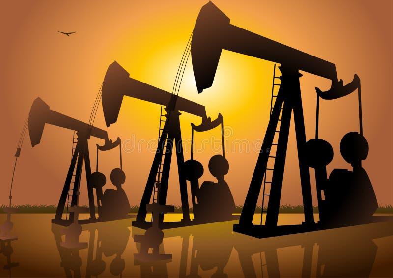 Oil Drilling. An illustration of oil drilling stock illustration