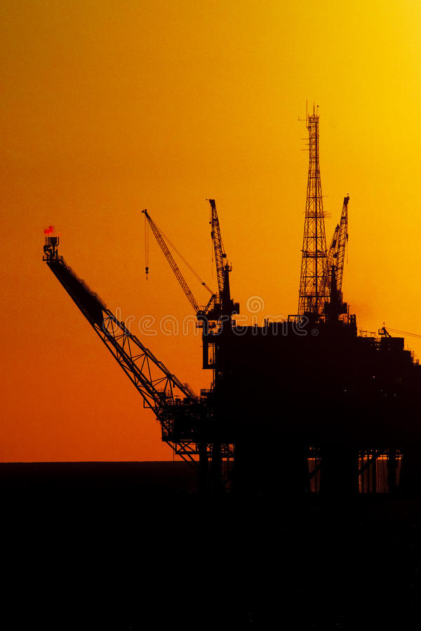 Download Oil Drilling Rig In Silhouete Stock Photo - Image of production, petrol: 13212022