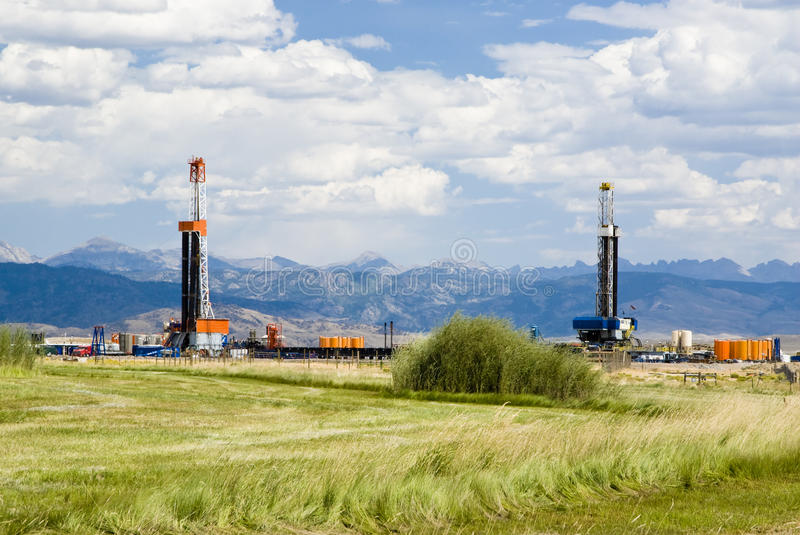 Oil Drilling Rigs Stock Photography