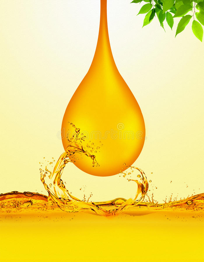 Oil Drop royalty free illustration