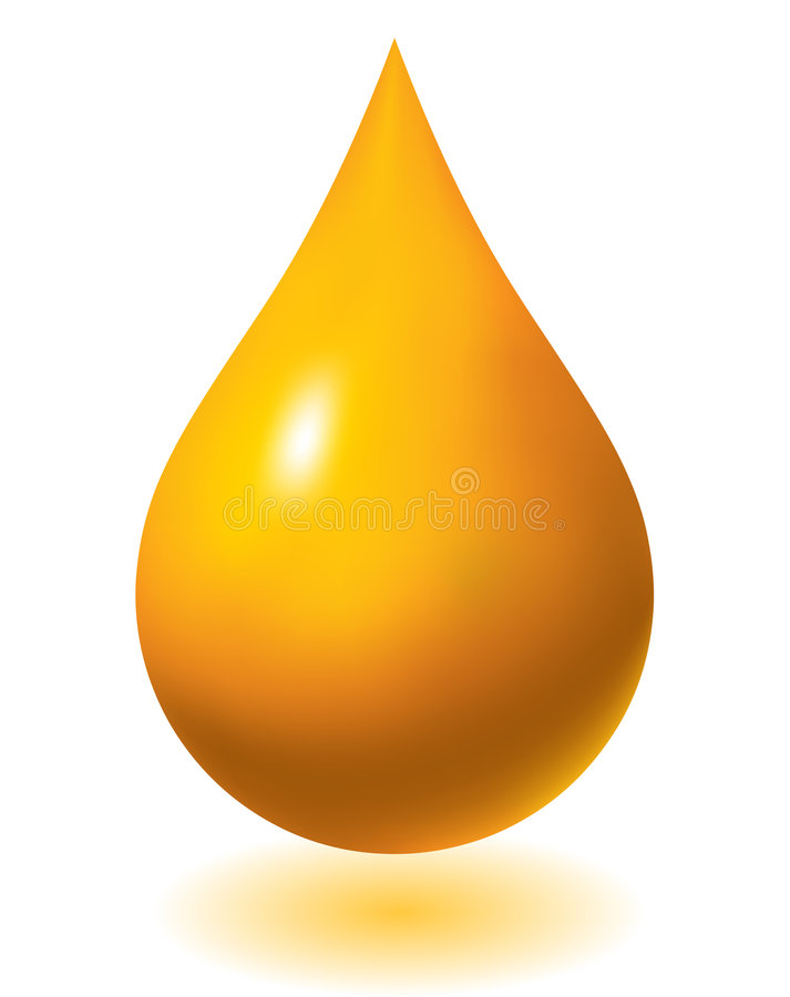 Oil drop. Golden oil drop background - vector illustration