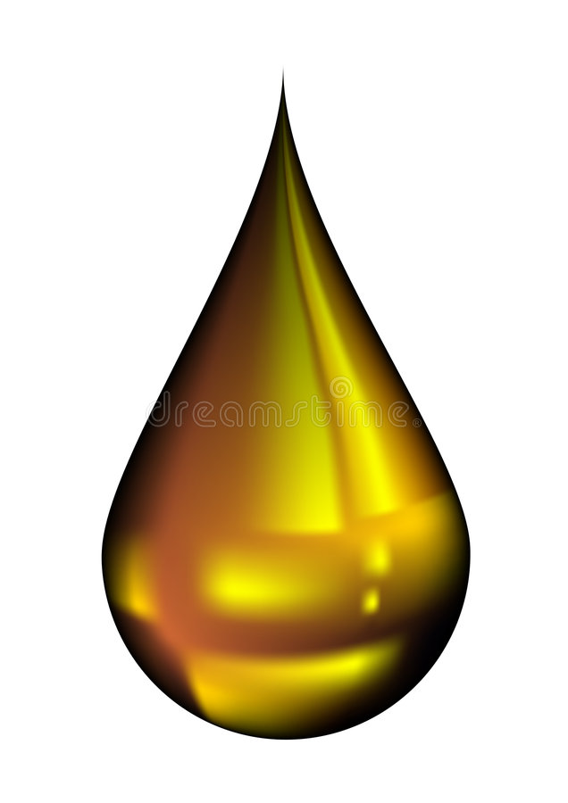 Oil drop. Illustration of oil drop isolated on white vector illustration