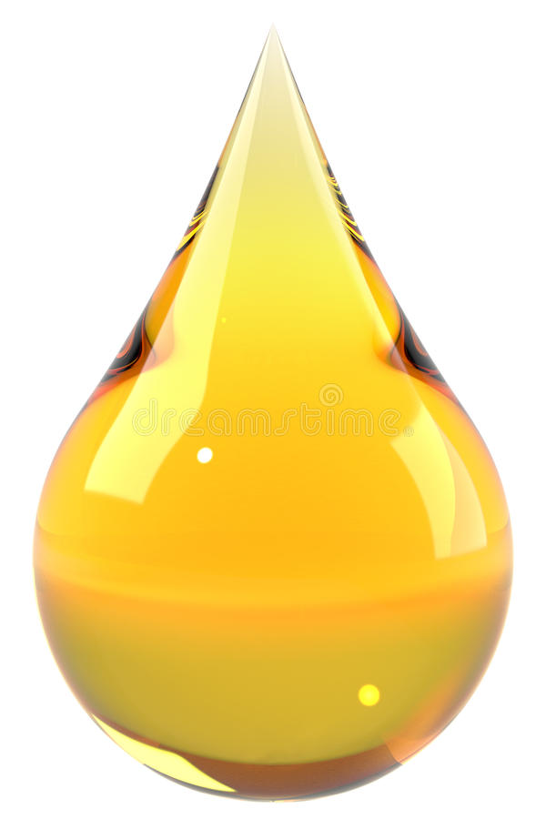 Oil drop isolated on white background royalty free illustration