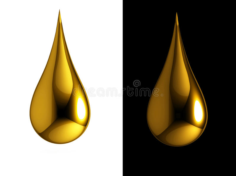 Oil drops vector illustration