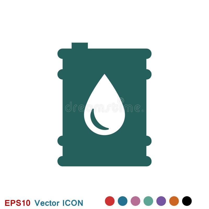 Oil drum container icon logo, illustration, vector sign symbol for design. Oil drum container icon logo, vector sign symbol for design stock illustration