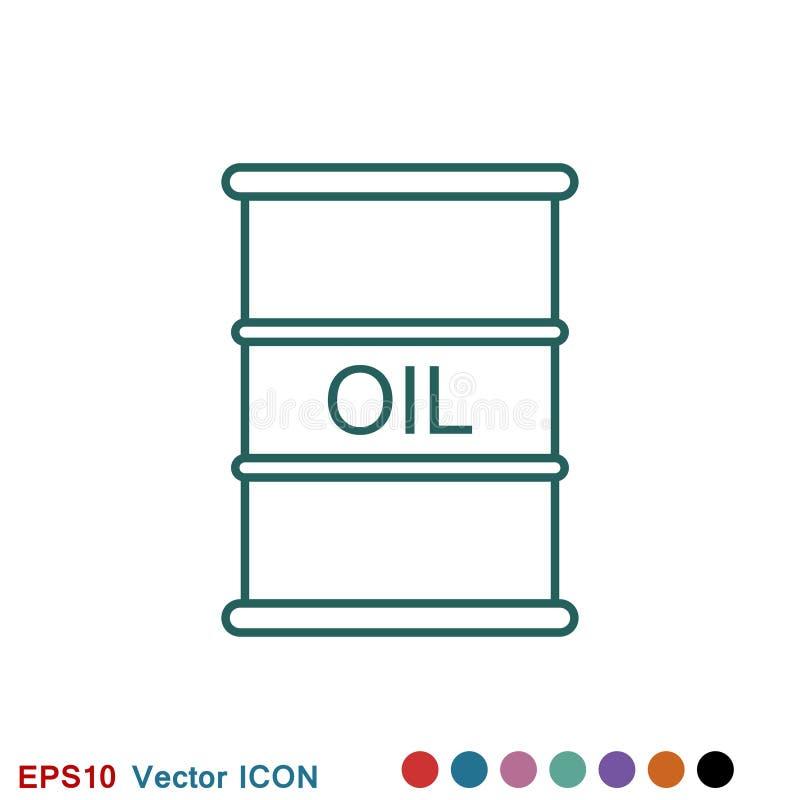 Oil drum container icon logo, illustration, vector sign symbol for design. Oil drum container icon logo, vector sign symbol for design royalty free illustration