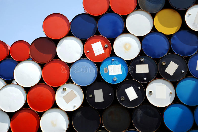 Download Oil drums stock image. Image of conservation, colored - 13884115