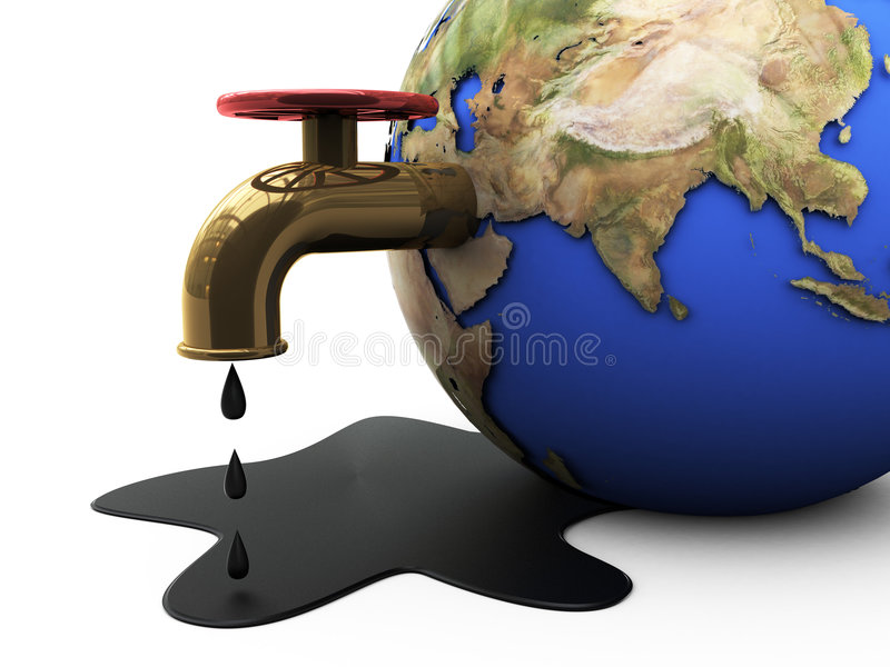 Oil and earth stock illustration