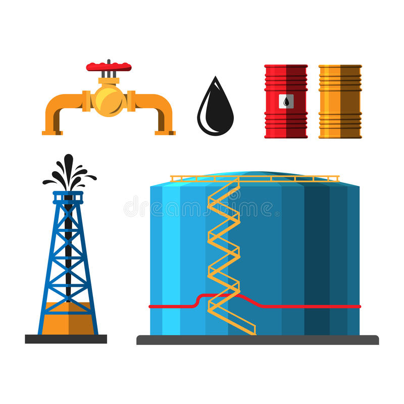 Oil extraction container vector illustration stock illustration