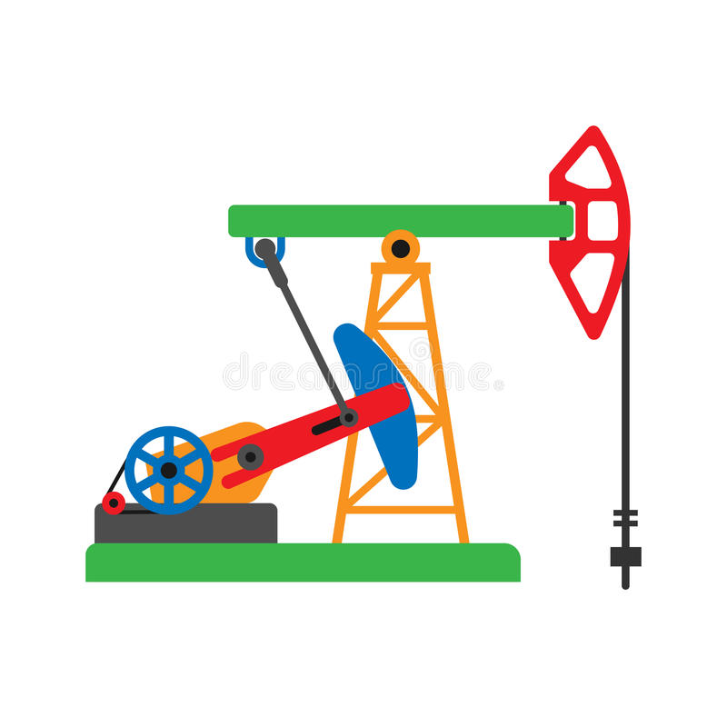 Oil extraction platform vector illustration vector illustration
