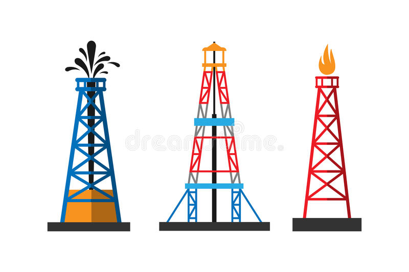 Oil extraction platform vector illustration royalty free illustration