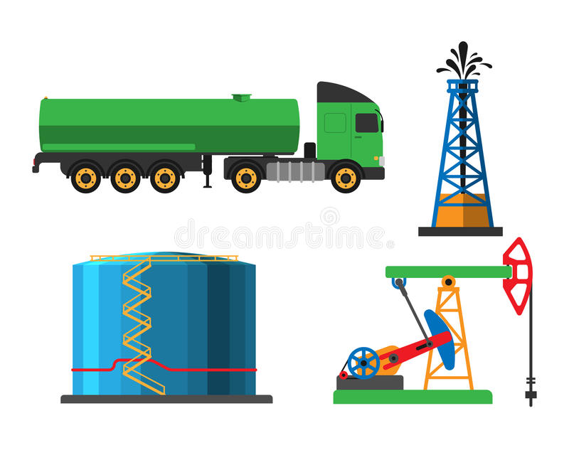 Oil extraction transportation vector illustration vector illustration