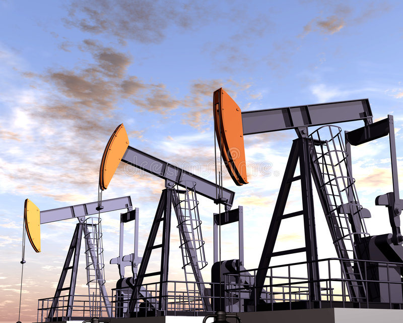 Oil Field royalty free stock photo