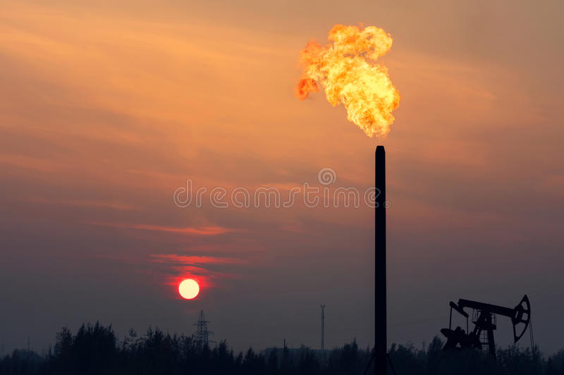 Oil Field. stock image