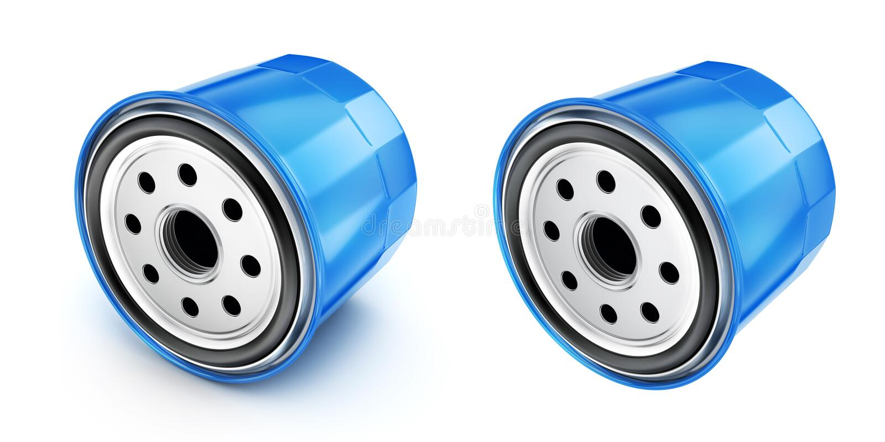 Oil filter car, 3d illustration stock photography
