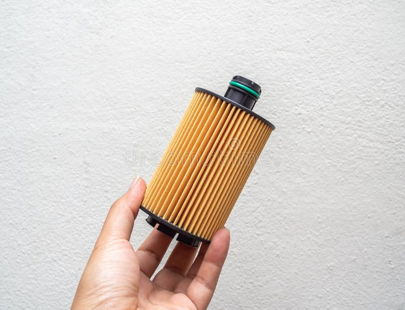 Oil filter. Car fuel filter isolated on white background royalty free stock photos