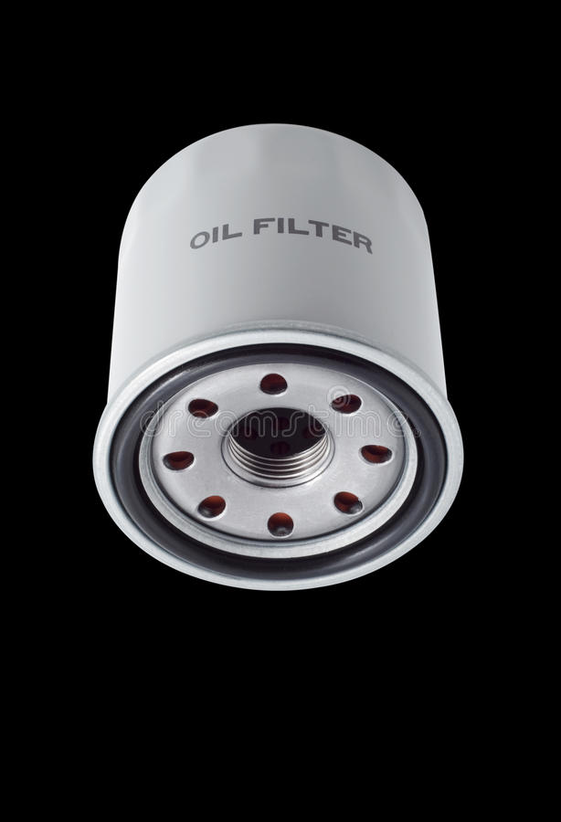 Oil filters stock photo