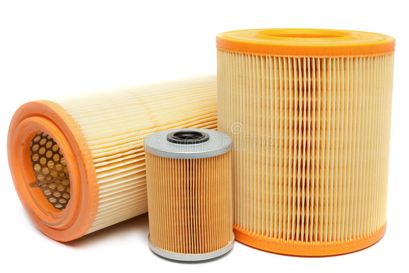 Oil filters stock photography