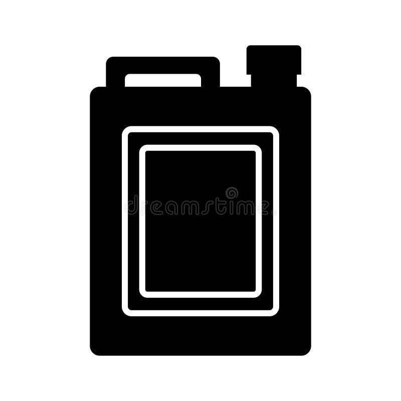 Oil gallon icon. Oil gallon bottle with tap icon over white background. vector illustration vector illustration
