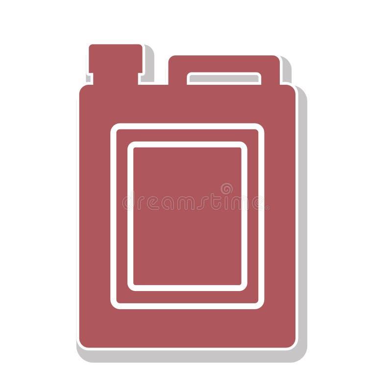 Oil gallon icon vector illustration