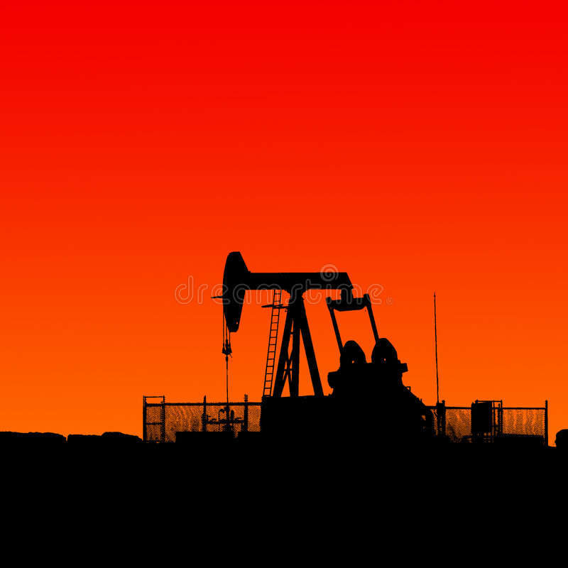 Download Oil and gas stock photo. Image of silhouette, well, pumping - 8206876