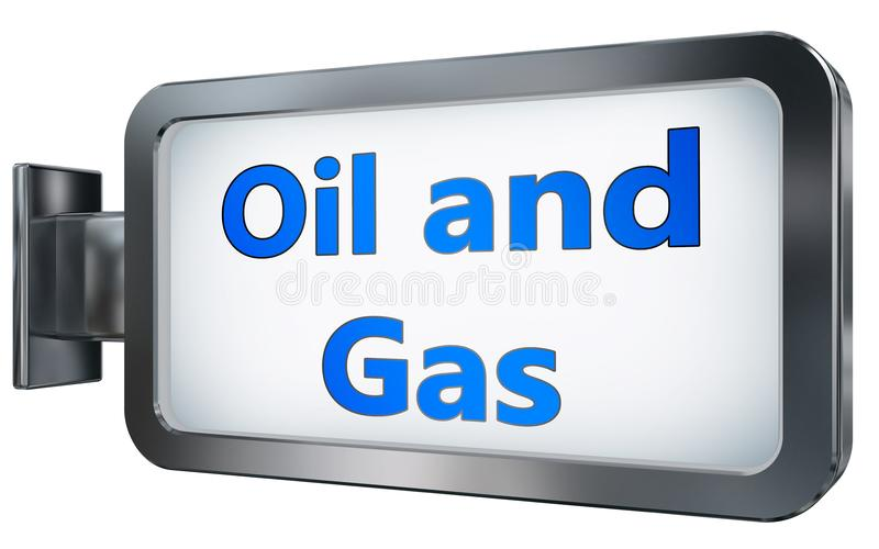 Oil and Gas on billboard background vector illustration