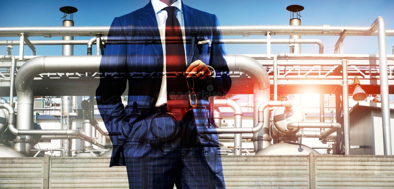 Oil and gas business stock images