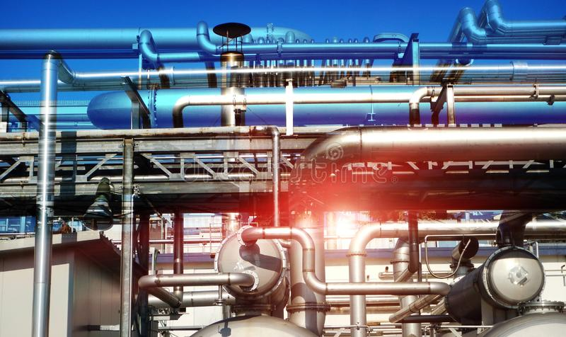 Fuel industry pollution business and corruption - concept royalty free stock photography