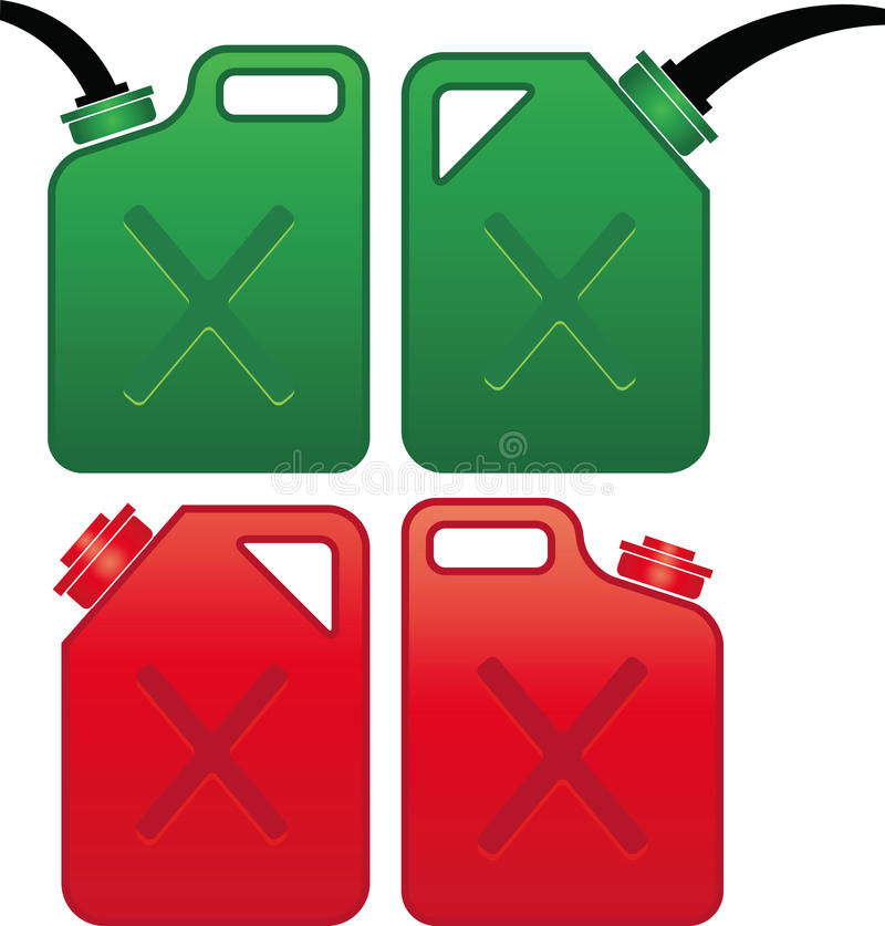 Oil and gas can stock illustration