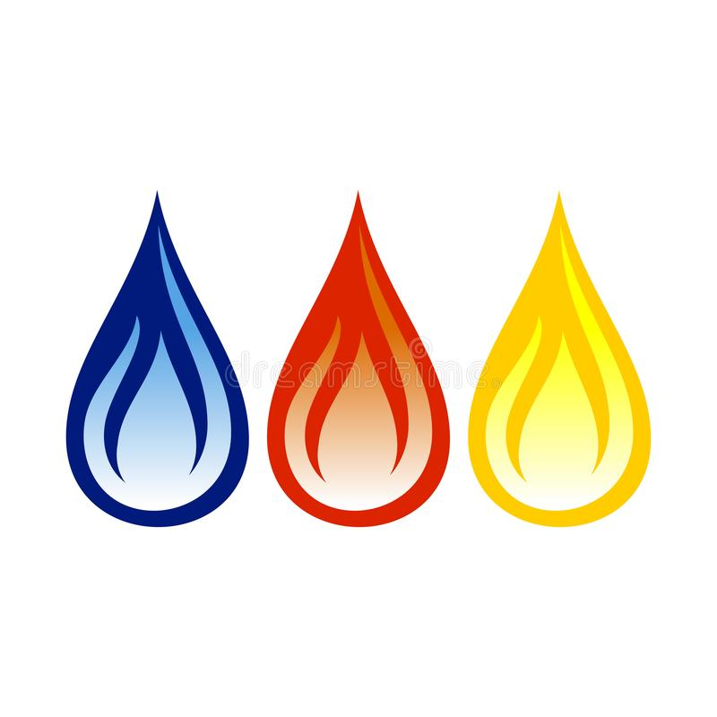 Oil Gas Flame Abstract Symbol Design. Oil Gas Flame Abstract Vector Symbol Graphic Logo Design Template stock illustration