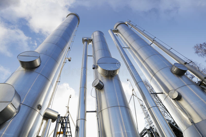 Oil, gas and fuel pipes stock images