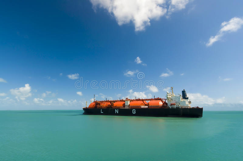 Oil and gas industry liquefied natural gas tanker LNG royalty free stock photo