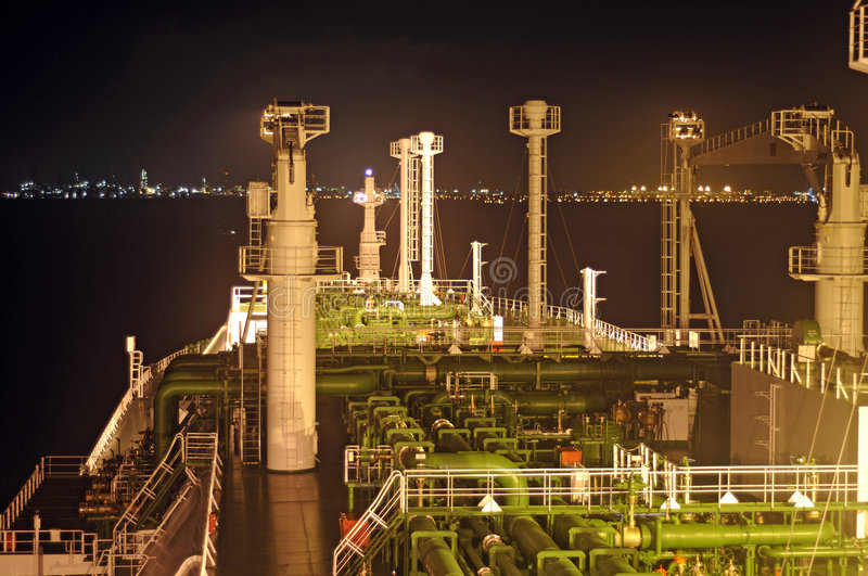 Oil and gas industry - LNG tanker royalty free stock photos
