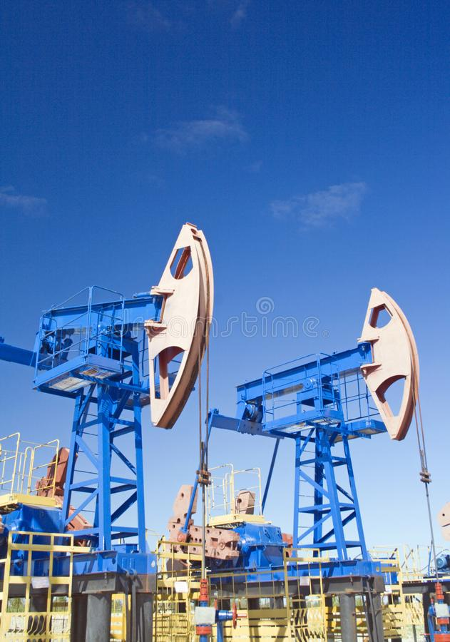 Oil and gas industry. Oil pump jack royalty free stock images