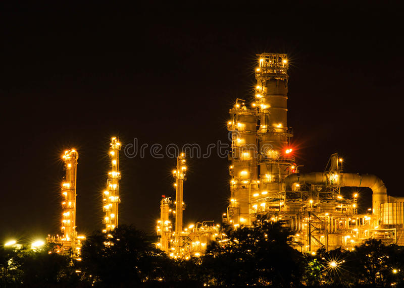 Download Oil And Gas Industry - Refinery At Twilight - Factory - Petroche Stock Photo - Image of fuel, pollute: 44878816