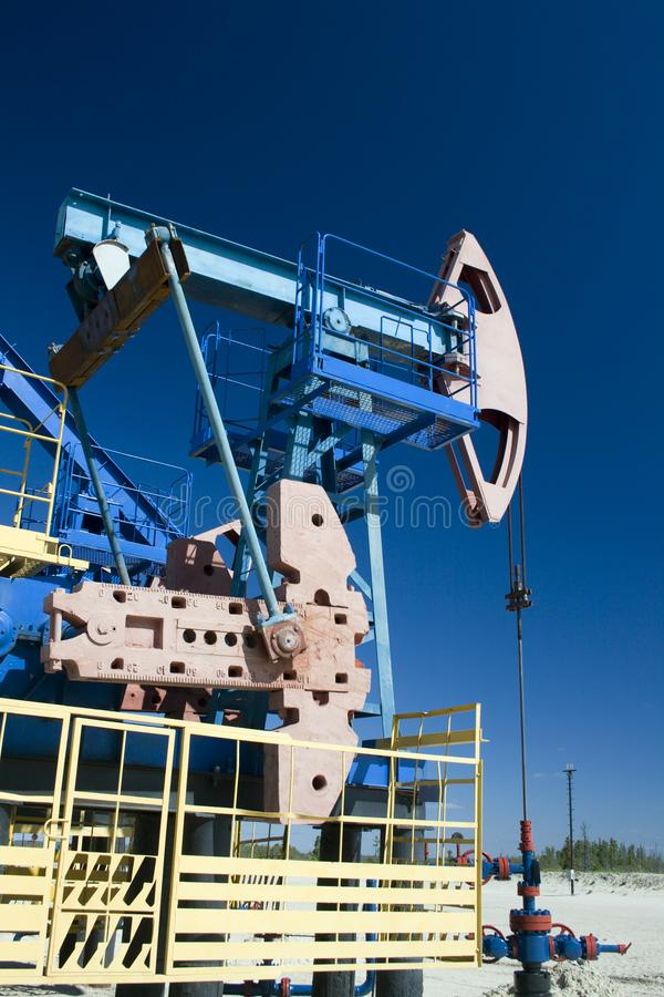 Oil pump jack. Oil und gas industry royalty free stock image