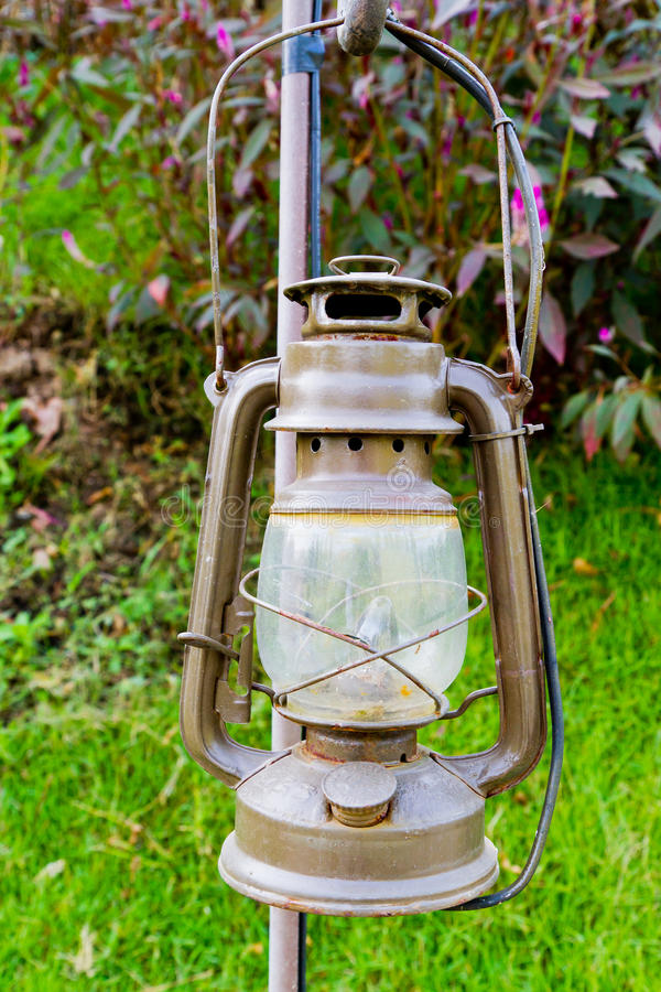 Oil and gas lamp stock image