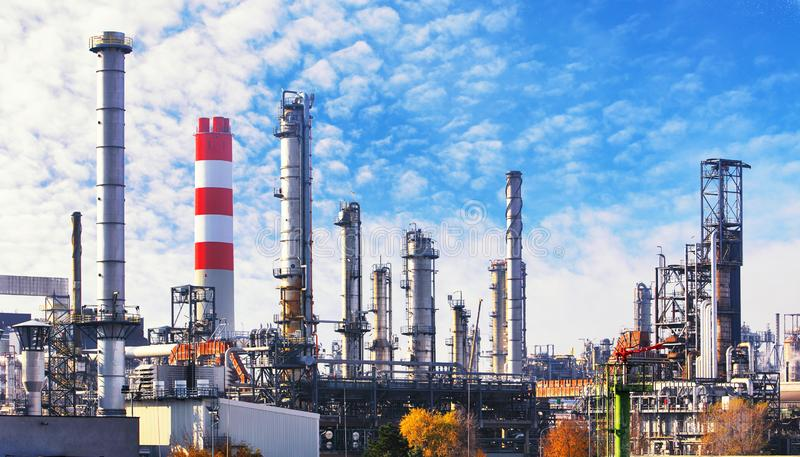 Oil and gas petrochemical plant, Industry factory.  stock photo