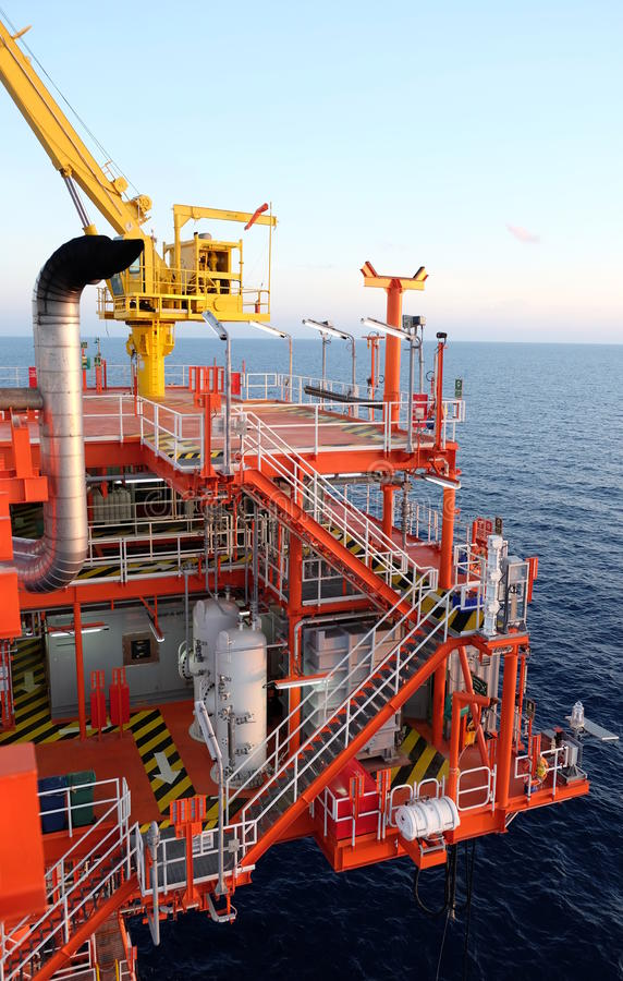 Oil and gas platform in the gulf . royalty free stock photo