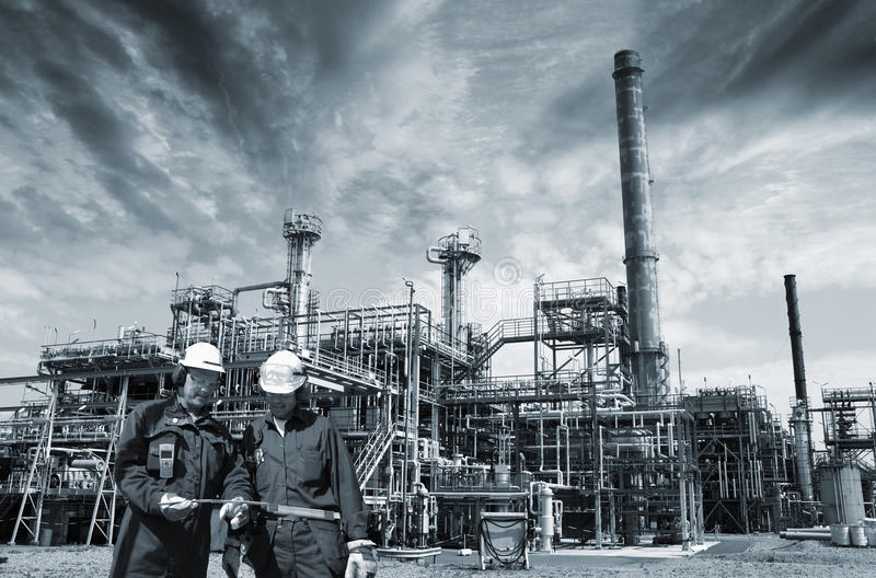 Oil, gas, power and workers royalty free stock images