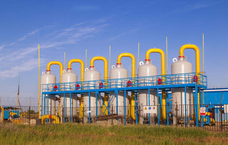 Oil and gas processing plant. Oil and gas processing plant capacity royalty free stock images