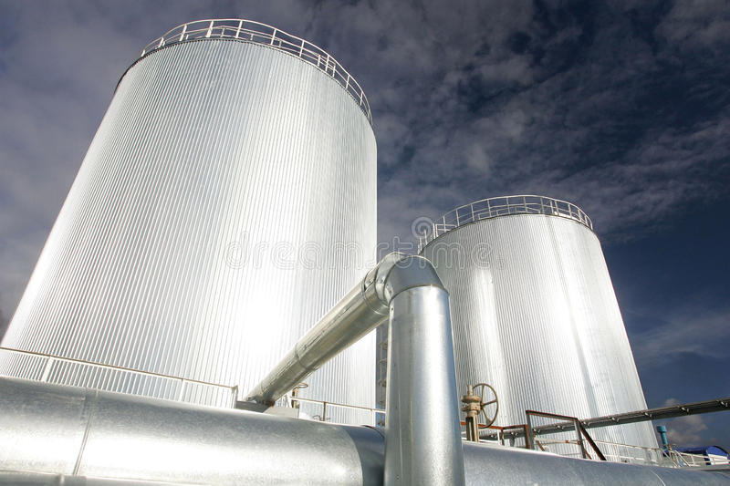 Oil and gas production royalty free stock image