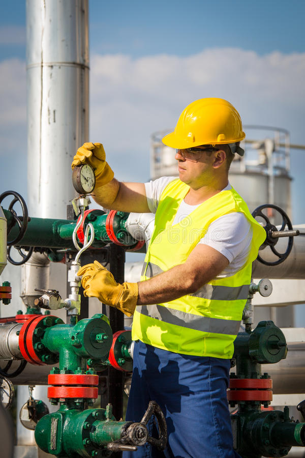 Oil And Gas Production Operator Stock Photo - Image of adult ...