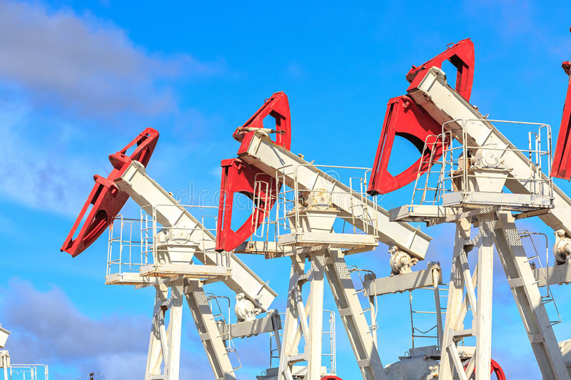 Oil and gas production royalty free stock photos