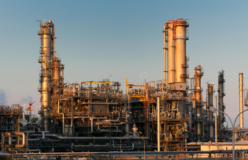 Oil and gas refinery. Factory royalty free stock photography