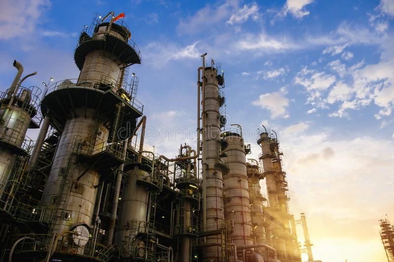 Oil and gas refinery royalty free stock photos