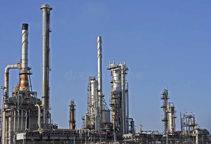 Oil And Gas In Rotterdam Royalty Free Stock Photos