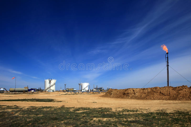 Oil And Gas Tanks Royalty Free Stock Photography